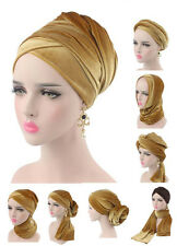 Muslim Women Velvet Mesh Turban Underscarf Long Head Scarf Headscarf Hijab Cap