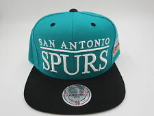 San Antonio Spurs Aqua Throwback Mitchell & Ness NBA Snapback Hat Cap