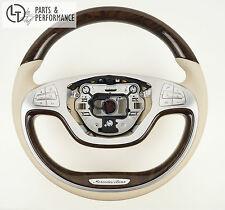 Mercedes-Benz Holzlenkrad Lenkrad Lenkradheizung Beige S-Klasse W222 A217 C217