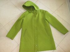 Ladies Hilary Radley Moss Green Quilted Hooded Coat Size Medium