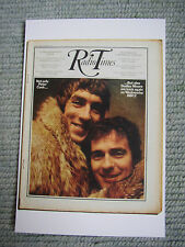 Postcard Vtg Radio Time cover February 1970 Peter Cook Dudley Moore Not only but