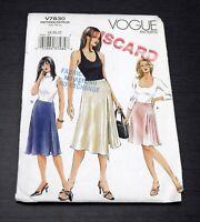 Vogue V7830 Misses Skirt Sz 18 20 22 Sewing Pattern A Line Loose Fit Plus Size