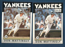 (2) 1986 TOPPS & O-PEE-CHEE YANKEES DON MATTINGLY  CARD LOT #180
