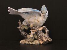 Masterpiece Porcelain by Homco Blue Jay Bird Figurine Vintage 1985