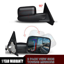 Tow Mirrors for 02-09 Dodge RAM 1500 03-09 2500 3500 Manual Flip-up Power Heated