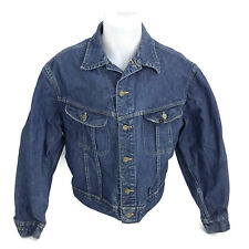 Vintage LEE Men's 101-J Denim Trucker Jacket Sanforized Made In USA Size 46 R