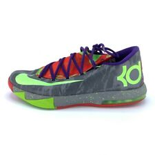 Nike Mens KD VI Basketball Shoes Gray 599424-008 Low Top Lace Up Sneakers 11.5