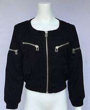 Adidas SLVR black wool bomber jacket size M