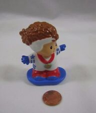 New! Fisher Price Little People OLYMPIC GOLD WINNER SNOW BOARDER GIRL Medal USA