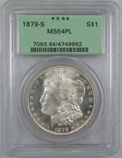 1879-S Morgan Silver Dollar PCGS MS64 PL OGH Proof Like No Reserve Auction