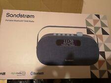 SANDSTROM Bluetooth Portable DAB+ & FM Digital Radio Dual Alarm Clock Aux In
