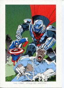 Avengers Captain America Andy Kubert 1993 French Print Marvel Rare