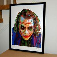 The Joker Heath Ledger Batman Dark Knight Poster Print Wall Art 18x24