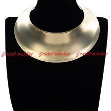 Fashion Jewelry Gold Silver Chunky Choker Statement Charm Beauty Bib Necklace