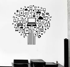 Vinyl Wall Decal Computer Tree Internet Social Networks Stickers (ig3913)