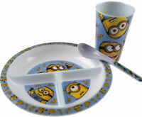 Minions Despicable Me 3 Piece First Toddler Dinner Gift Set - Plate, Spoon, Cup