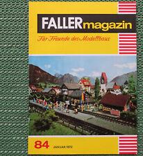 Faller AMS ---  Faller Magazin 84, Januar 1972