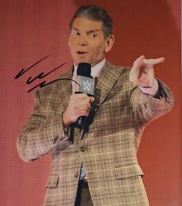 Vince McMahon Hand Signed 8x10 Photo W/ Holo COA WWF WWE
