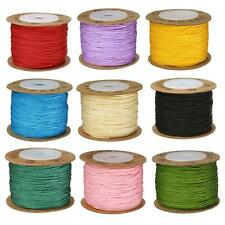 100m Nylon Cord Thread Chinese Knot Macrame Beading DIY Bracelet Braided 0.8mm