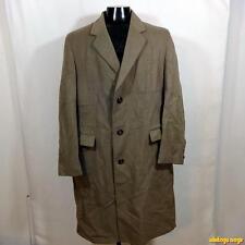 Britain Vtg Wool Cashmere Coat Overcoat Mens Size 40L 40 Long Black