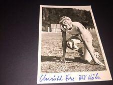 Christel Chemo OLYMPIA 70er SIGNED CARTOLINA 10x15