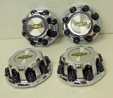 """Set of 4 Chrome Chevy Silverado 2500 Center Caps for 16"""" 8 Lug Aluminum Wheels"""