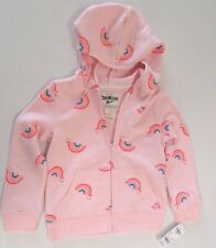 Oshkosh Girls Rainbow Print Hooded Sweatshirt Lt...