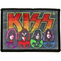 OFFICIAL LICENSED - KISS - FACES & ICONS SEW-ON PATCH ROCK SIMMONS