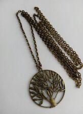 Runde Bronze Modeschmuck-Halsketten & -Anhänger für Damen