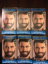 6 Pks For Men Brush In Mustache Beard /Color Compare To Just For Men Black