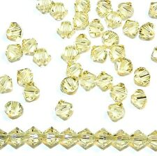 SCB339f Jonquil Yellow 4mm Xilion Faceted Bicone Swarovski Crystal Beads 48pc