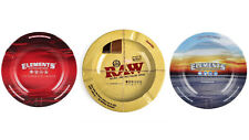 SMOKERS ASH TRAY ASHTRAY METAL TIN RAW ELEMENTS PAPERS ROLLING GIFTS RAWLIFE