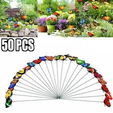 50pcs Butterfly Garden Metal Stake Patio Lawn Yard Art Planter Flower Pot Decors