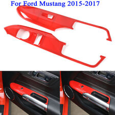 Interior Door Window Lift Panel Decorative Frame Cover For Ford Mustang 2015-17