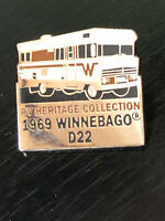 Vintage Collectible RV Heritage 1969 Winnebago Colorful Metal Pin Back Lapel Pin