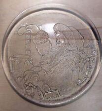 "Mikasa 12"" Round Glass Noel Santa Christmas Platter AllHollidays.com"
