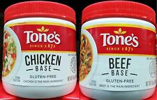 Beef or Chicken Base ~ Tones - 1 Pound Jar - Use in Broth,Gravy, Sauces-Select 1