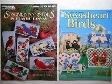 SWEETHEART BIRDS & Songbird Doorstops IN PLASTIC CANVAS, Pattern booklets