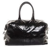 Authentique Yves Saint Laurent Facile Sac noir verni