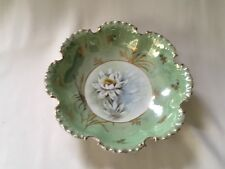 Rosenthal Monbijou R&C Bavaria Antique Gold Scalloped Edge 10: Bowl Lotus EVC