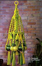 New listing Multi 6-Pot Plant Hanger~Macrame Pattern Book~Hanging Tables~Spanish Lace
