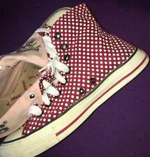 Levi's Ankle Boots Polka Dot Fold Down Canvas VINTAGE LEVI UK size 6.5 Ladies