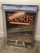 Sports Illustrated 1954 First Issue SI #1 CGC 7.0 White Pages, Insert & Cards