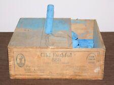 Vintage American Crayon Co Old Faithful 888 Railroads Mines Mills Blue Chalk
