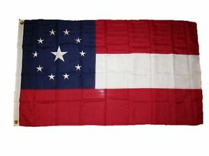 4x6 Embroidered Sewn 1st National Stars Bars 11 Middle 300D Nylon Flag 4'x6'