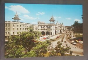 Old vintage Malaysia post card Kuala lumpur train station