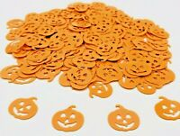 HALLOWEEN ORANGE PUMPKIN TABLE CONFETTI PARTY DECORATION SCATTER sprinkle scary