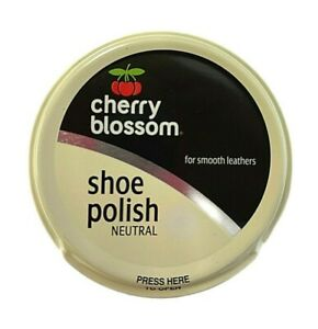 4x Cherry Blossom Shoe Polish 50ml -Traditional-Smooth Leathers - Neutral Colour
