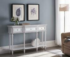 Kings Brand - Console Sofa Table with Storage Drawers and Shelf for Entryway