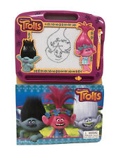 Dreamworks Trolls Book And Magnetic Drawing Board